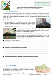 Activités internes de la Terre - Exercices : 6eme Primaire