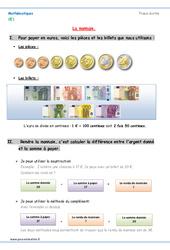 Monnaie - Cours, Leçon à imprimer : 2eme Primaire