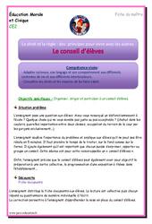 Conseil d'élèves - EMC : 3eme Primaire