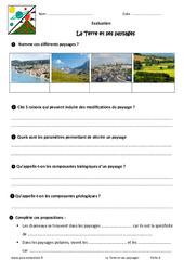 La Terre et ses paysages - Examen Evaluation - Bilan : 6eme Primaire