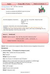 Anglais - Tout le programme période 3 - Famille Vadrouille : 4eme Primaire