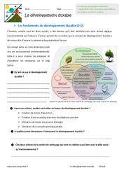 Développement durable - Exercices : 6eme Primaire