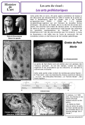 Arts préhistoriques - Arts du visuel - Histoire de l'art : 3eme Primaire