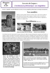 Architecture préhistorique - Arts de l'espace - Histoire de l'art : 3eme Primaire