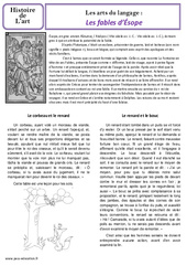Fables d'Esope - Art du langage - Histoire des arts : 3eme, 4eme Primaire