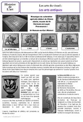 Arts antiques - Art du visuel - Histoire des arts : 3eme, 4eme Primaire