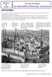 Ville fortifiée - Carcassonne - Art de l'espace - Histoire des arts : 4eme Primaire
