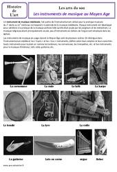 Instruments de musique du moyen âge - Arts du son - Histoire des arts : 4eme Primaire