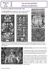 Vitraux et tapisseries au moyen âge - Arts du quotidien - Histoire des arts : 4eme Primaire
