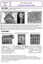 Sculptures au Moyen âge - Arts du visuel - Histoire des arts : 4eme Primaire