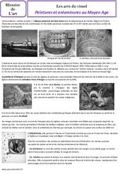 Peintures et enluminures au Moyen âge - Arts du visuel - Histoire des arts : 4eme Primaire