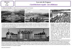 Architecture royale - Les châteaux - Arts de l'espace - Histoire des arts - Temps modernes : 4eme, 5eme Primaire