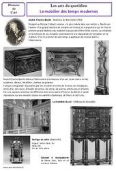 Mobilier des temps modernes - Arts du quotidien - Histoire des arts : 4eme, 5eme Primaire