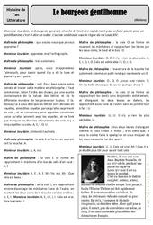 Le bourgeois gentilhomme - Molière - Arts du langage - Histoire des arts : 4eme, 5eme Primaire