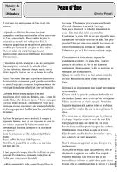 Peau d'âne - Charles Perrault - Conte - Arts du langage - Histoire des arts : 4eme, 5eme Primaire