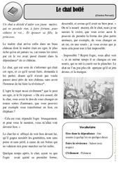 Le chat botté - Charles Perrault - Conte - Arts du langage - Histoire des arts : 4eme Primaire