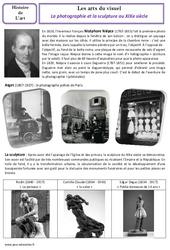 Sculpture - Photographie - XIXe siècle - Arts du visuel - Histoire des arts : 4eme, 5eme Primaire