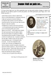Jeanne était au pain sec ... - Victor Hugo - Arts du langage - XIXe siècle - Histoire des arts : 4eme, 5eme Primaire