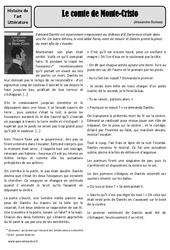 Le conte de Monte - cristo - Alexandre Dumas - Arts du langage - XIXe siècle - Histoire des arts : 4eme, 5eme Primaire