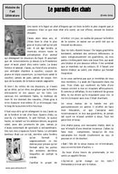 Le paradis des chats - Emile Zola - Arts du langage - XIXe siècle - Histoire des arts : 4eme, 5eme Primaire