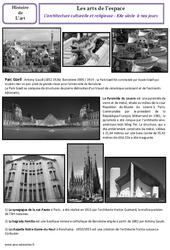 Architecture culturelle et religieuse du XXe à nos jours - Arts de l'espace - Histoire des arts : 5eme Primaire