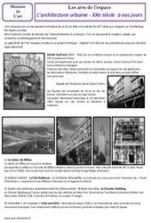 Architecture urbaine du XXe à nos jours - Arts de l'espace - Histoire des arts : 5eme Primaire