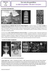 Les objets du quotidien - XXe siècle  à nos jours - Arts du quotidien - Histoire des arts : 5eme Primaire