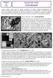 Art abstrait - Arts du visuel - Histoire des arts - XXème siècle : 5eme Primaire