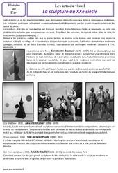 Sculpture - Arts du visuel - Histoire des arts - XXème siècle : 5eme Primaire