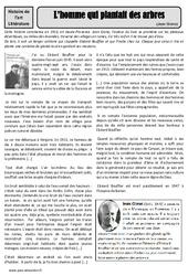 L'homme qui plantait des arbres - Jean Giono - Arts du langage - Histoire des arts - XXème siècle : 5eme Primaire