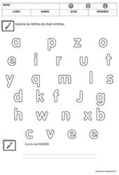 Ecrire le mot rentrée - Script : 3eme Maternelle - Cycle Fondamental