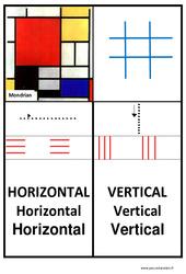 Affiche graphisme - Lignes horizontales et verticales - Petite, moyenne, et  : 1ere, 2eme, 3eme Maternelle - Cycle Fondamental