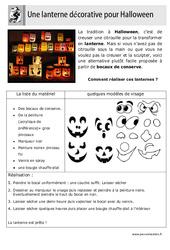 Réaliser une lanterne pour Halloween - Arts plastiques : 2eme, 3eme, 4eme, 5eme Primaire