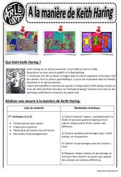A la manière de Keith Haring - Arts visuels : 2eme, 3eme, 4eme, 5eme Primaire