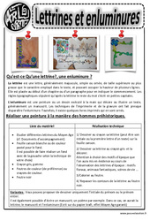 Lettrines et enluminures - Arts visuels : 2eme, 3eme, 4eme, 5eme Primaire