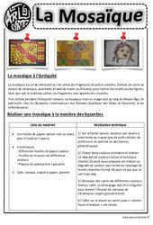 Mosaïques - Arts visuels : 2eme, 3eme, 4eme, 5eme Primaire