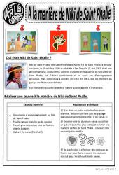 A la manière de Niki de St Phalle - Arts visuels : 2eme, 3eme, 4eme, 5eme Primaire