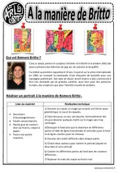Britto - Portraits - Arts visuels : 2eme, 3eme, 4eme, 5eme Primaire