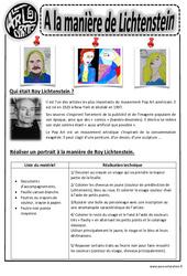 Roy Lichtenstein - Portraits - Arts visuels : 2eme, 3eme, 4eme, 5eme Primaire