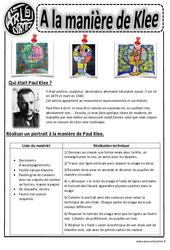 Paul Klee - Portraits - Arts visuels : 2eme, 3eme, 4eme, 5eme Primaire