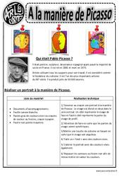 Picasso - Portraits - Arts visuels : 2eme, 3eme, 4eme, 5eme Primaire