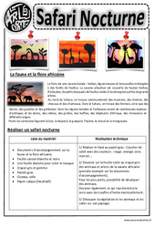 Safari Nocturne - Arts visuels : 2eme, 3eme, 4eme, 5eme Primaire