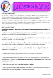 Charte de la Laïcité - Documents - Questionnaire - Correction : 3eme, 4eme, 5eme Primaire