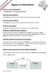 Qu'est - ce - qu'un signal et une information? : 6eme Primaire