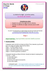 Les droits de l'enfant - Fiche de préparation : 1ere, 2eme Primaire