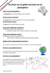 Qu'est - ce - qu'un planisphère? : 2eme Primaire