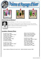 Poème et paysage d'hiver - Collage - Art visuel : Primaire - Cycle Fondamental