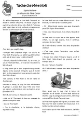 Recherche mère Noël - Conte de noël : 1ere, 2eme Primaire