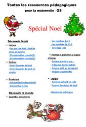 Noël - Dossier : 3eme Maternelle - Cycle Fondamental