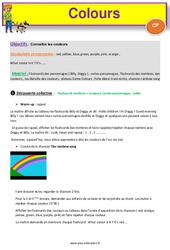 Colours - Anglais : 1ere Primaire